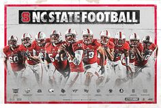 2015 NC State Football Poster on Behance