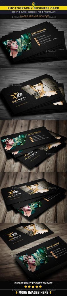 Photography Business Card - Creative Business Card Template PSD. Download here: http://graphicriver.net/item/photography-business-card/11930316?s_rank=1768&ref=yinkira