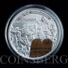 Palau, $ 2, Biblical stories, the Ten Commandments, God, silver coin 2011