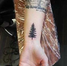 Tree Tattoo on Wrist by Bethany Nani Arzhanov