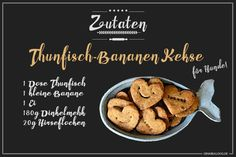 Hundekeksrezept Thunfisch-Bananen Kekse für Hunde selbst backen