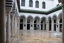 Court of Dar Soulaimania, once the boarding lodge of Zeitouna University in Tunis, Tunisia