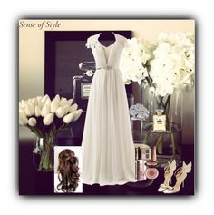 """""""Wedding Sense of Style"""" by lstarkphoto ❤ liked on Polyvore featuring Charlotte Tilbury, Fantasy Jewelry Box, Chanel, wedding, bridal and senseofstyle"""