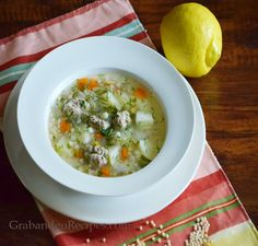 Harvest Grains Blend Soup with Chicken Meatballs Recipe. Super easy, healthy and delicious soup; highly recommended!!!