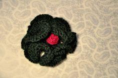 brooch. crochet. handmade Beanie, Brooch, Crochet, Hats, Handmade, Hand Made, Hat, Brooches, Ganchillo