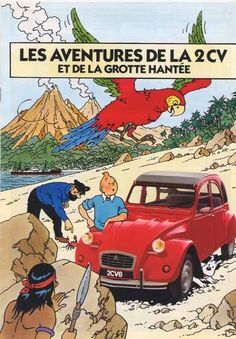 Les aventures de la 2CV  et de la grotte hantée (Tintin) - Citroen  (The adventures of the 2HP  and the haunted cave)