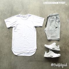 Today's top #outfitgrid is by @kicksonmyfeet_ . ▫️#PremiumCo #Tee ▫️#NikeSportswear #Shorts ▫️#Nike #AirPresto