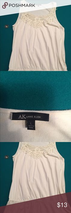 ❤️3/$15 and 4.99 shipping❤️Anne Klein tank Casual or dress it up!! Anne Klein Tops Tank Tops