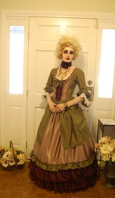 Green silk tattered steampunk Victorian inspired by hhfashions, $185.00