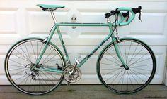 Vintage Bianchi road bike restored with new paint, Campagnolo, Mavic, Vittoria, etc.