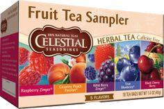 Fruit Tea Sampler | Herbal Teas | Celestial Seasonings- perfect for hot days...yummy flavor, no calories!
