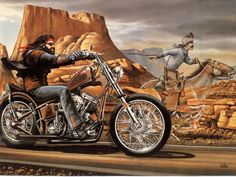 David Mann Motorcycle Art | GHOST RIDER by David Mann | Diablos Motorcycle Culture