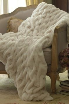 Faux Fur Throw, $98.95 by Soft Surroundings