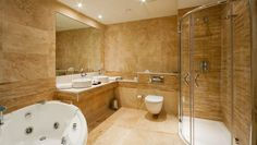 Floating Toilet Idea Also Luxurious Shower Enclosure Design Plus Awesome Remodeling Bathroom And Round Vessel Sinks