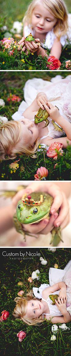 Princess & Frog Fairytale Photo Shoot - NY, NJ, PA Portrait Photographer www.CustomByNicole.com