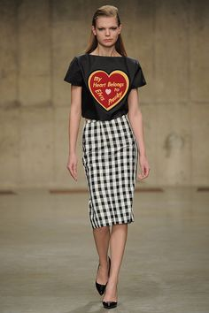 Ashley Williams (Fashion East), AW13 #LFW  Cute!