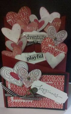 Valentines Day Cascading Card by MomToLissa - Cards and Paper Crafts at Splitcoaststampers