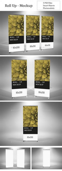 Roll Up Banner Mockup Design Template PSD. Download here: https://graphicriver.net/item/roll-up-mockup/16957537?s_rank=25&ref=yinkira
