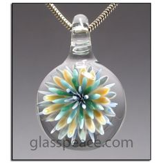 Sea Anemone Glass Pendant lampwork necklace focal  by Glass Peace$40.00