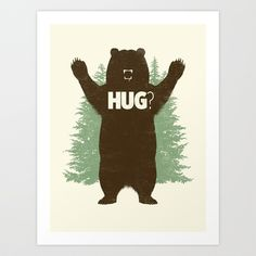 Bear Hug? Art Print by Matthew J Parsons - $20.00