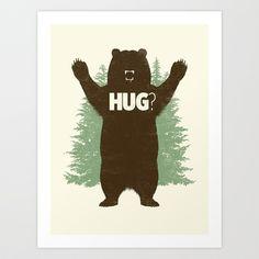 Bear Hug? Art Print by Matthew J Parsons - $20.00