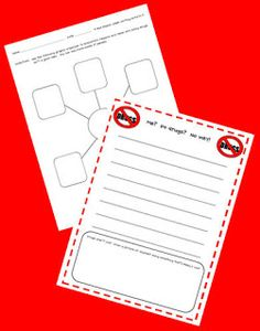 FREEBIE! Say No To Drugs Writing Activity!