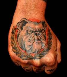 gangster bulldog tattoo by audrey mello my art pinterest gangsters tattoo and tatting. Black Bedroom Furniture Sets. Home Design Ideas