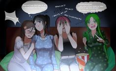 Watch some horror movies With girlfriend Inspired by the work of YandereFangirl20xxLovesick: Slumber Party!