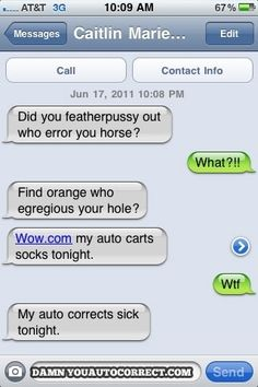 Auto cart socks: | The 30 Most Hilarious Autocorrect Struggles Ever. This is really really funny!