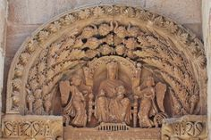 Tímpano con Virgen Theotokos - Puerta del Obispo, Catedral de Zamora