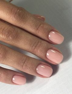 Light pink nail polish that looks very cute