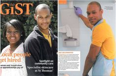 One of @London Apprenticeship Company #apprentices featured on the cover of @GSTTnhs magazine! #madebyapprentices