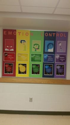 nice Inside Out Bulletin Board on Emotion Control and Mental Health...