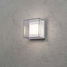 Sanremo LED Aussen-Wandleuchte / Grau, klares Polycarbonat Glas (bruchsicher) 53140 Spot Luminaire, Luminaire Led, Lampe Led, Led Exterior Wall Lights, Led Wand, Applique Led, Support Mural, Aluminium, Interiors