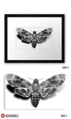 'Death's-Head Hawkmoth' Framed, Metallic, Photographic and Canvas print #artbyurte