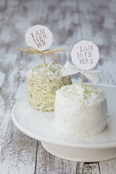 Adorable...single serving for the bride and groom!