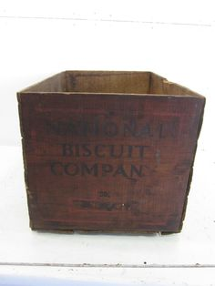 Vintage National Biscuit Co. Wooden Shipping Crate