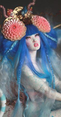 Blue Bird Geisha OOAK Polymer Sculpt by Nicole West | eBay