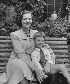 The Royal Watcher:  Queen Geraldine of Albania with her son, Prince Leka