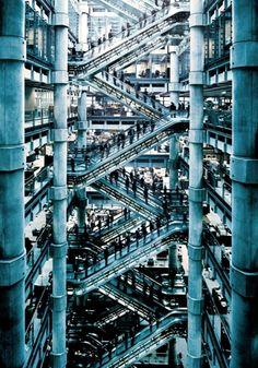 Lloyds Building Escalator by Simon Stock