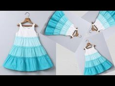 DIY designer Ruffled Baby Frock For 5 To 6 Year Full Tutorial - YouTube