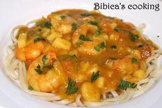 Curry de crevettes sucré-salé {au Cook'in}