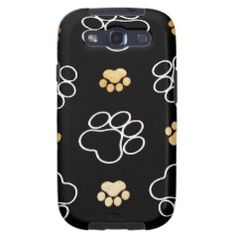 Dog Puppy Paw Prints Gifts for Dog Lovers Galaxy S3 Cases