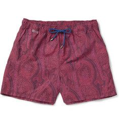 Domple Men Hipster Straight Leg Plus Size Plaid Print Beach Shorts Boardshort Swim Trunk