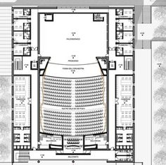Teatro Cittadino – Picture gallery View full picture gallery of City Theater Cultural Architecture, Auditorium Architecture, Theater Architecture, Plans Architecture, Museum Architecture, Tropical Architecture, Islamic Architecture, Auditorium Plan, Auditorium Design