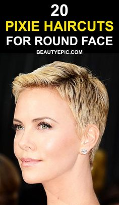 47 best pixie haircut for round faces images  hair colors