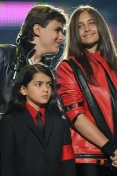 Prince Michael Jackson with his sister Paris and brother Blanket