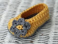 Crochet Baby Girl Booties  by TheBabyCrow