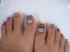 tribal nails by erlene08 - Nail Art Gallery nailartgallery.nailsmag.com by Nails Magazine www.nailsmag.com #nailart
