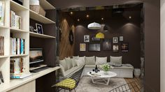 little duplex:upstairs(multi-function room) by 张 jing, via Behance